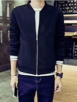 Men's Long Sleeve Jacket , Roman Knit Casual Pure