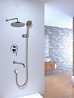 High Quality 8 '' Bathroom Concealed Rainfall Square Shower Set Faucet Bath Tap Mixer