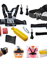 14in Gopro Accessories Set Hero 4 Chest +Head +Wrist Strap+Floating Bobber Monopod Go pro hero3 3+ Mount