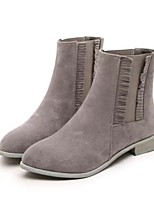 Women's Shoes Low Heel Round Toe Boots Casual Black / Gray