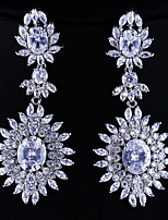 Gorgeous Alloy With Czech Rhinestones Teardrop Wedding Earrings Cubic Crystals Earrings More Colors (with Gift Box)