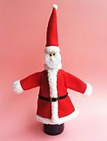 vino la decoración de navidad bolsa de trajes de botella ropa sombrero botella
