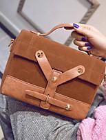 Women PU Baguette Shoulder Bag / Tote / Satchel / Storage Bag - Brown / Red / Gray / Black