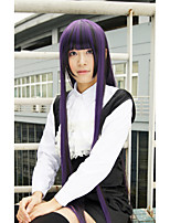 LanTing Cos Inu X Boku SS Shirakiin Ririchiyo Purple Long Cosplay Wig Party Anime Hair