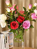 Silk / Plastic Roses Artificial Flowers