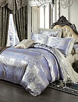 estilo retro royal cama jacquard lilás set 4 peças
