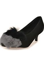 Women's Shoes Stiletto Heel Heels / Pointed Toe Heels Casual Gray / Burgundy
