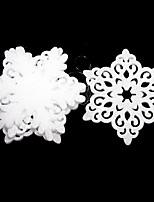 Ornamenti - di Plastica - Bianco - Natale