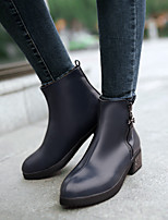 Women's Shoes Leatherette Chunky Heel Combat Boots Boots Casual Black / Blue / Brown / Red