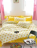 mingjie® gouden heerlijke gele vlakke plaat koningin en twin size schuren beddengoed sets 4 stuks voor jongens en meisjes china