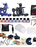 Complete Tattoo Kit 2 Machines 10 Color Inks Power Supply