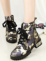 Women's Shoes Patent Leather Chunky Heel Work & Safety Boots Casual Blue / Green