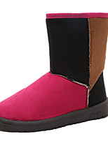 Women's Shoes Low Heel Round Toe Boots Casual Brown / Pink / Coral