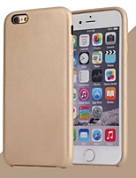 Para Funda iPhone 6 Funda iPhone 6 Plus Carcasa Funda Other Cubierta Trasera Funda Color sólido Dura Cuero Sintético paraiPhone 6s Plus