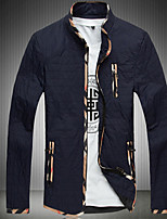 Men's Long Sleeve Jacket , Cotton / Others Casual / Plus Sizes Pure