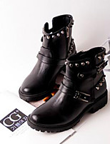 Women's Shoes Low Heel Combat Boots Boots Casual Black / Red