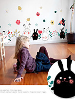 Wall Stickers Wall Decals Style Ute Cartoon Rabbit PVC Wall Stickers