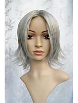 cos Lanting Hitman Reborn! Gokudera Hayato cinza curta cosplay partido peruca de cabelo anime