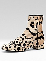 Women's Shoes Leather / Suede Chunky Heel Fashion Boots Boots Office & Career / Party & Evening / Dress