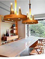 American living Room Bedroom Warm Stylish solid Wood Pendant
