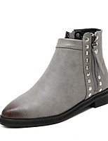Women's Shoes  Chunky Heel Bootie / Pointed Toe Boots Outdoor / Casual Black / Gray