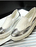 Women's Shoes  Platform Round Toe Loafers Casual Black / Silver