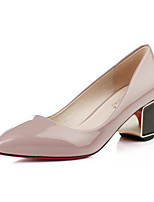 Women's Shoes Leatherette Chunky Heel Heels / Closed Toe Heels Wedding / Office & Career /Casual Black / Pink / Red
