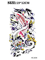 (1pcs) New Fish Vs Totem Temporary Tattoo Waterproof Sexy Armband Tattoo Body Art/Halloween Big Fake Tatoo Stickers