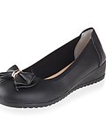 Women's Shoes Leather Wedge Heel Comfort / Round Toe Heels Outdoor / Office & Career / Dress Black / Blue / Yellow / Red
