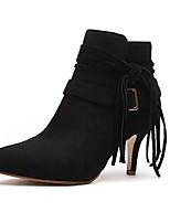 Damesschoenen - Buiten / Formeel / Casual - Zwart / Bruin - Stilettohak - Gepunte neus / Modieuze laarzen - Laarzen - Suède