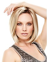 Capless Short High Quality Synthetic Blonde Straight Hair Wig Side Bang
