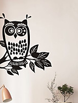 Animals Wall Stickers Plane Wall Stickers OWl PVC Wall Stickers W60cm x L60cm (W23.6'' x L23.6'')