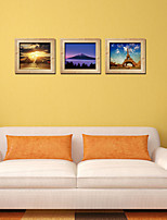 3D Wall Stickers Wall Decals Style Photo Frame Landscape Creative Triple Painting PVC Wall Stickers