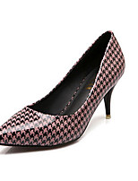 Women's Shoes Leatherette Stiletto Heels / Pointed Toe / Closed Toe Heels Office & Career / Dress / Casual Pink / White