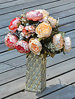 Peony Buds in Silk Cloth Artificial Flower for Home Decoration(5Piece)