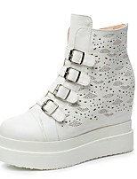 Women's Shoes Wedge Heel Wedges / Platform / Fashion Boots / Round Toe Boots Dress / Casual Black / White