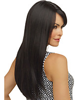 Top Quality  Long Straight Black Color Woman's Fashion Synthetic Hair WIgs