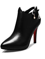 Chaussures Femme - Bureau & Travail / Décontracté / Soirée & Evénement - Noir - Talon Aiguille - Talons / Bottes à la Mode - Bottes - Cuir