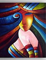 peinture à l'huile peinture abstraite poeple peint à la main tendue encadré prêt à accrocher