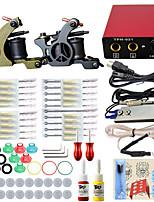 ITATOO® Professional 2 Complete Tattoo Kit Tattoo Gun Machine Set with Colors Tattoo Ink Pigment Grip Needles