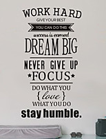 Inspiring Words & Quotes Wall Stickers Plane Wall Stickers , PVC W58cm x L106cm (W22.8'' x L41.7'')