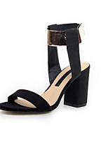 Women's Shoes Chunky Heel Open Toe Sandals Casual Black