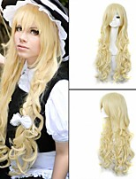 Fashion Gosick Victorique De Blois 150cm Long Wavy Synthetic Blonde Anime Cosplay Wig