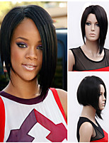 Woman's Vogue Black Straight Short Synthetic Wigs