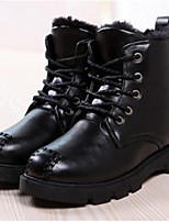 Women's Shoes Flat Heel Combat Boots / Closed Toe Boots Outdoor / Casual Black / Brown / Red