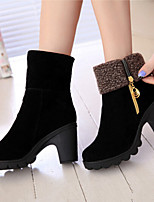Women's Shoes Suede Chunky Heel Comfort / Combat Boots Boots Casual Two Wear