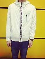 Men's Long Sleeve Jacket , Nylon Casual Pure