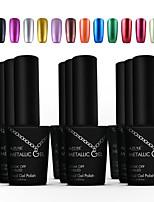 Azure Beauty Metallic Gel Nail Polish Soak Off UV Gel Metal Gold Color Nail Art  Manicure 3#-14#(10ml,12 Colors)