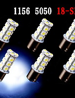 6 pcs White 1156 BA15S 18-SMD 5050 LED Light bulbs Turn Signal Backup Reverse