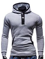 Men's Long Sleeve Hoodie & Sweatshirt , Spandex Pure
